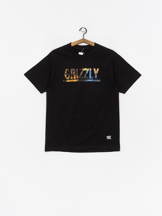 Tričko Grizzly Griptape Stamped Scenic (black)