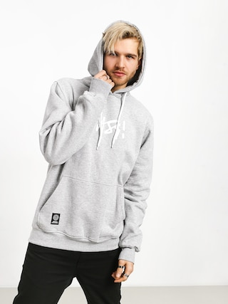 Mikina s kapucňou MassDnm Signature Medium Logo HD (light heather grey)