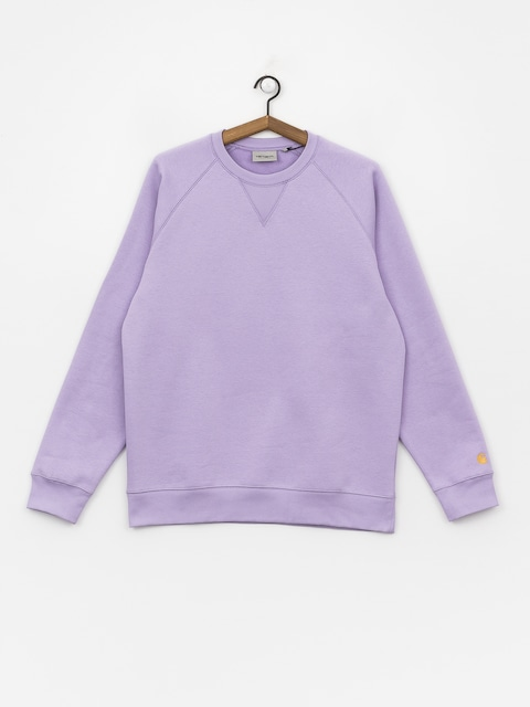 Mikina Carhartt WIP Chase (soft lavender/gold)