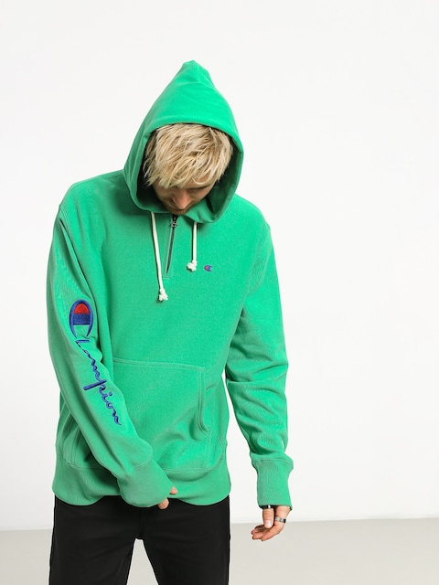 Mikina s kapucňou Champion Hooded Half Zip Sweatshirt ZHD (mgn)