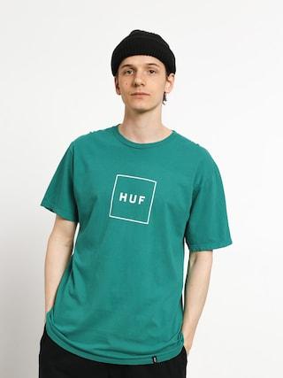 Tričko HUF Essentials Box Logo (deep jungle)