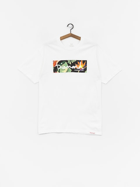 Tričko Diamond Supply Co. Paradise Box Logo (white)