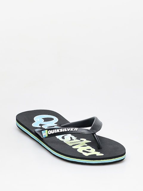 Žabky Quiksilver Molokai Wordmark Fineline (black/green/blue)