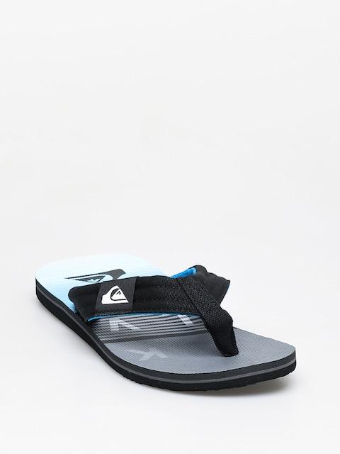 Žabky Quiksilver Molokai Layback (black/grey/blue)