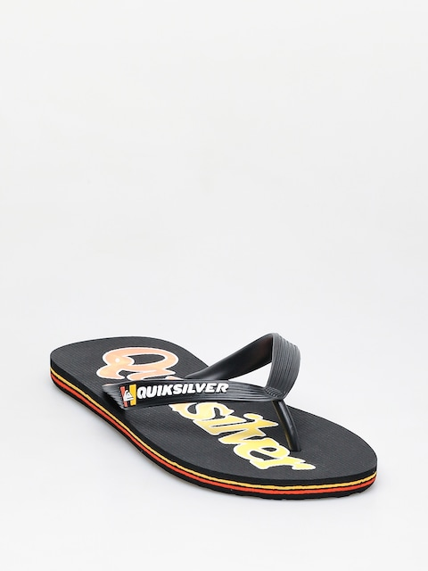Žabky Quiksilver Molokai Wordmark Fineline (black/black/yellow)