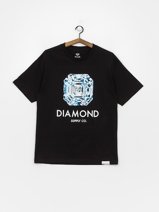 Tričko Diamond Supply Co. Asscher Cut (black)