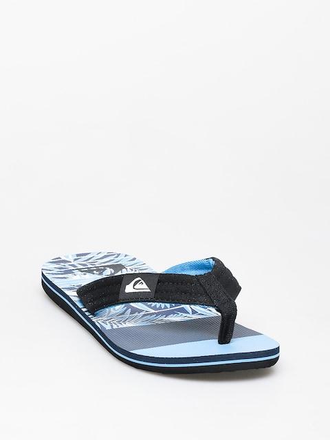 Žabky Quiksilver Molokai Layback (black/blue//blue)
