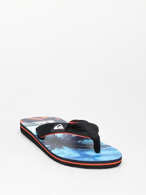 Žabky Quiksilver Molokai Layback (black/orange/blue)