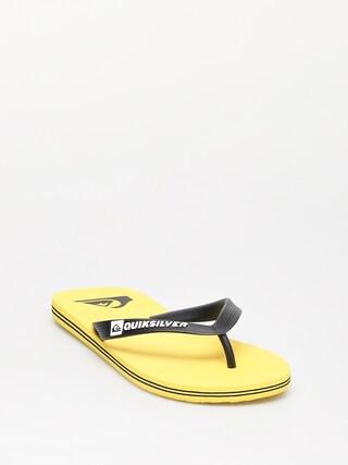 u017dabky Quiksilver Molokai (black/yellow/yellow)