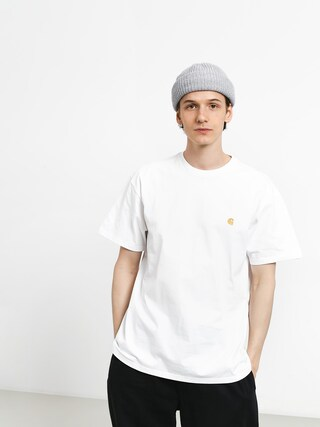 Tričko Carhartt Chase (white/gold)