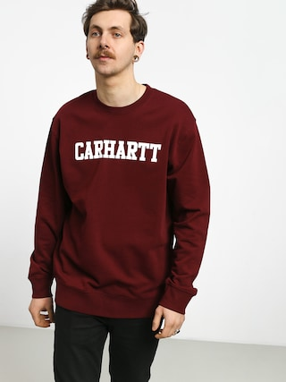 Mikina Carhartt WIP College (cranberry/white)