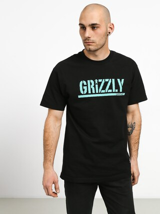 Tričko Grizzly Griptape Stamped (black)