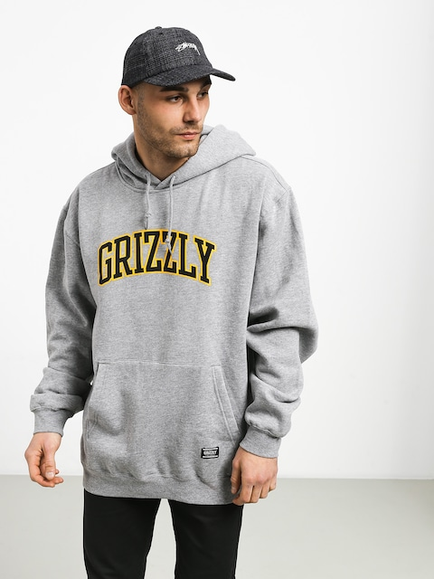 Mikina s kapucňou Grizzly Griptape University HD (grey heather)