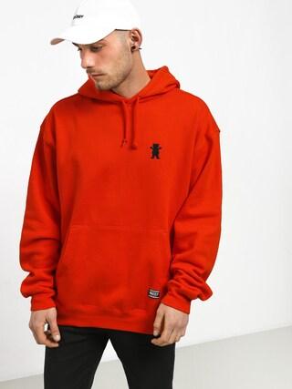 Mikina s kapucňou Grizzly Griptape Og Bear Embroidered HD (safety orange)