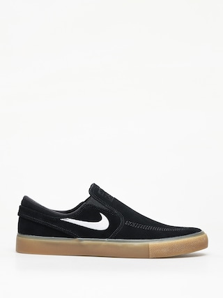 Topu00e1nky Nike SB Sb Zoom Janoski Slip Rm (black/white black gum light brown)