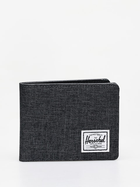 Peňaženka Herschel Supply Co. Hank Rfid (black crosshatch/black)