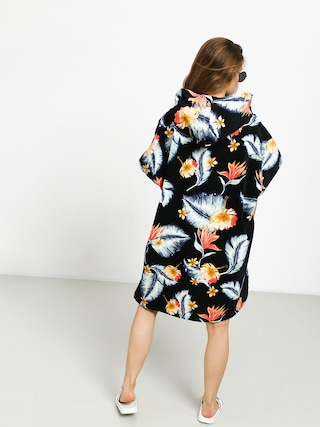 Mikina s kapucňou Roxy Poncho Pass This On Again Solid Wmn (anthracite tropical)
