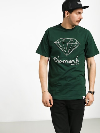 Tričko Diamond Supply Co. Og Sign (hunter green)