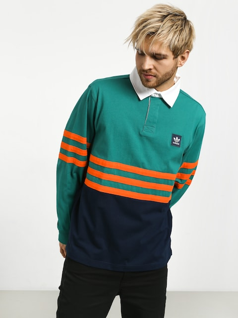 Triko Polo adidas Winchellpolo (actgrn/conavy/orange)