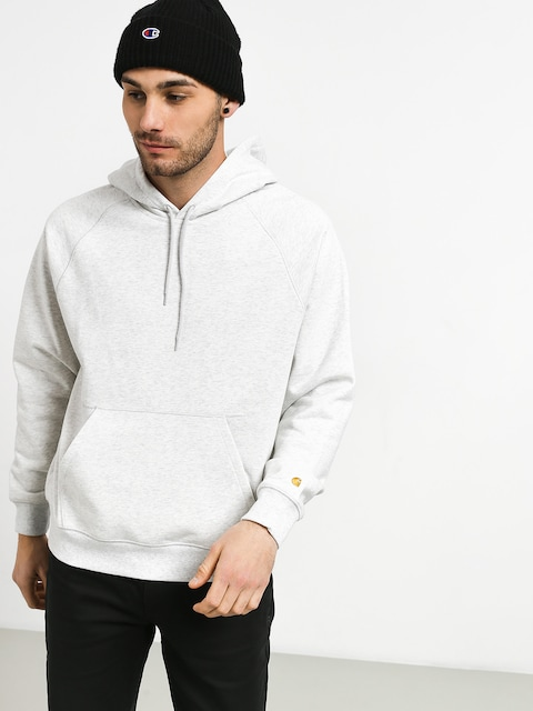 Mikina s kapucňou Carhartt WIP Chase Sweat HD (ash heather/gold)
