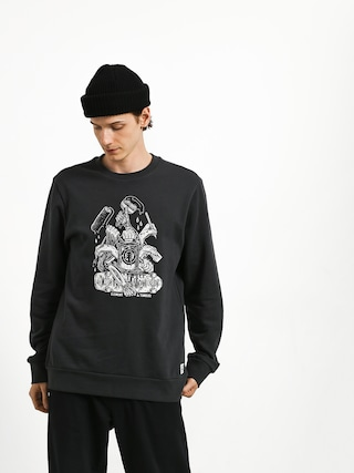 Mikina Element By Hand Crew (off black)