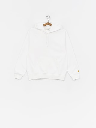 Mikina s kapucňou Carhartt WIP Chase HD Wmn (white/gold)
