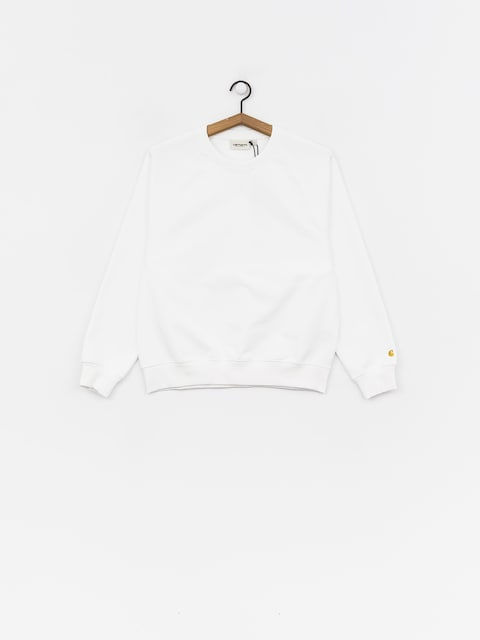 Mikina Carhartt WIP Chase Wmn (white/gold)