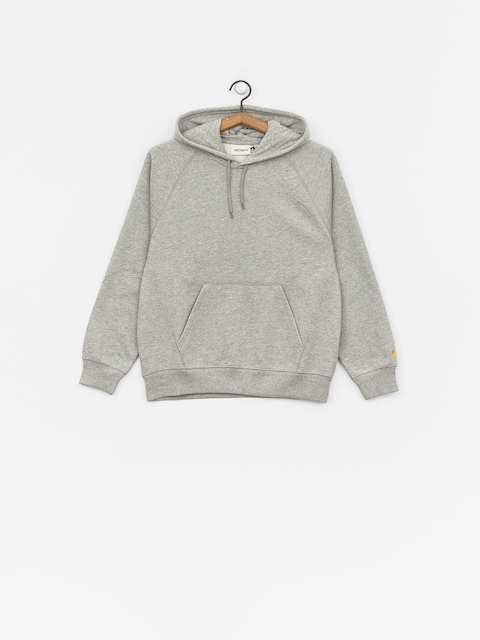 Mikina s kapucňou Carhartt WIP Chase HD Wmn (grey heather/gold)