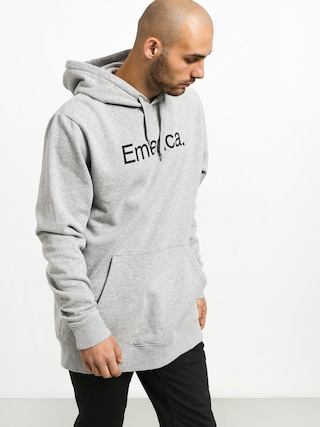 Mikina s kapucňou Emerica Small Pure Logo HD (grey/heather)