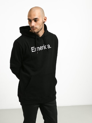 Mikina s kapucňou Emerica Small Pure Logo HD (black)