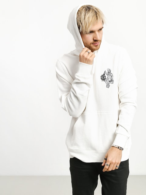 Mikina s kapucňou Element Crew HD (off white)