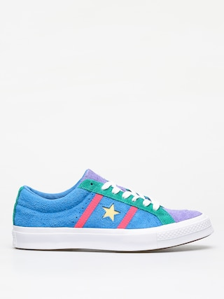 Topu00e1nky Converse One Star Academy Ox (totally blue/racer pink/white)