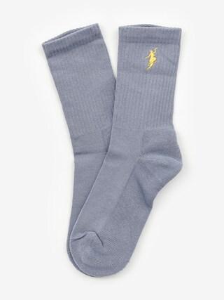 Ponožky Polar Skate No Comply (slate blue/yellow)