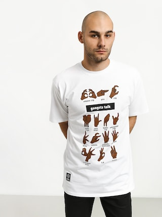 Tričko MassDnm Gangsta Talk (white)
