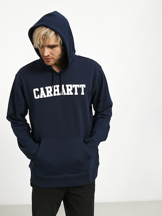 Mikina s kapucňou Carhartt WIP College HD (blue/white)