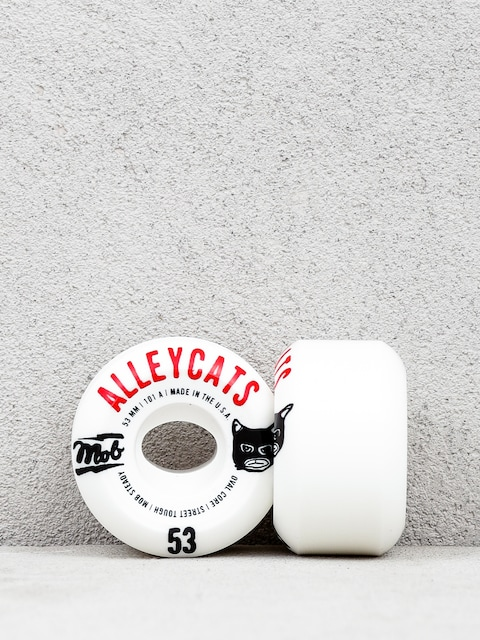 Kolieska Mob Skateboards Alleycats (white/black/red)