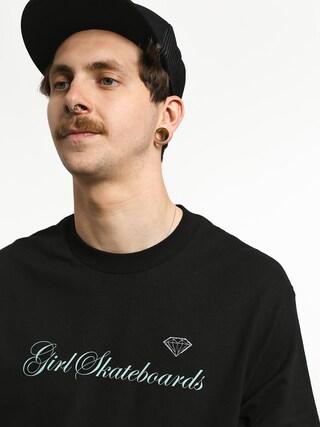 Tričko Girl Skateboard Supply Script (black)