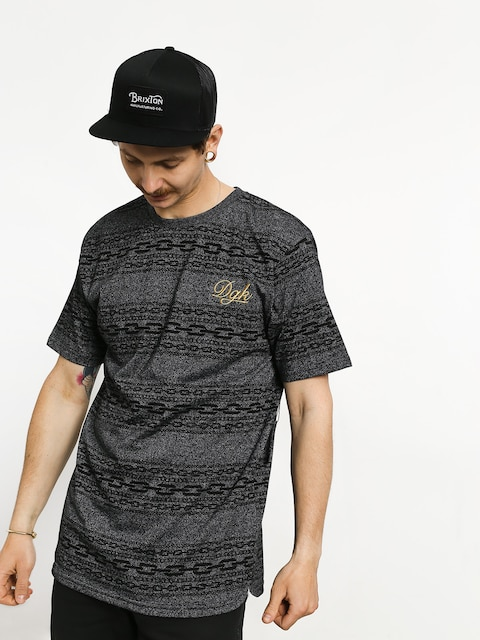 Tričko DGK Links Custom (black heather)