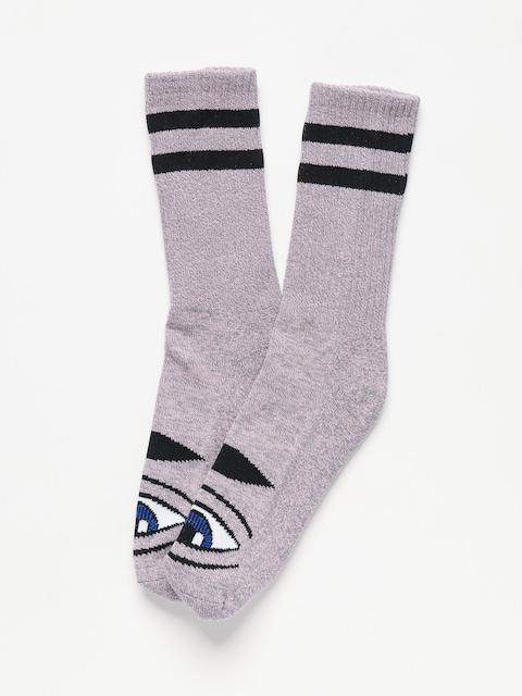 Ponožky Toy Machine Sect Eye (pink grey heather)