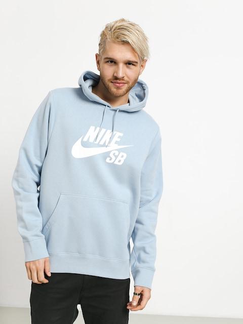 Mikina s kapucňou Nike SB Sb Icon HD (lt armory blue/white)
