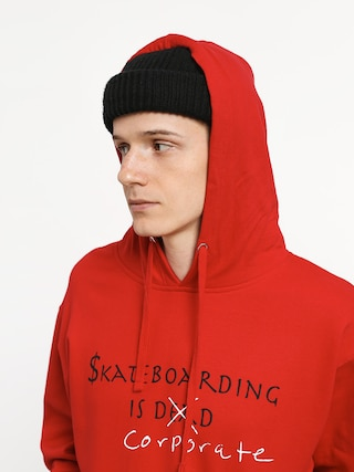 Mikina s kapucňou Diamond Supply Co. Skate Crime HD (red)