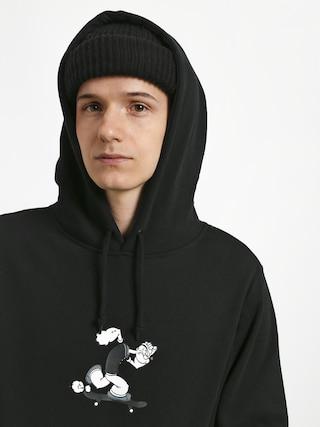 Mikina s kapucňou HUF Popeye Skates HD (black)