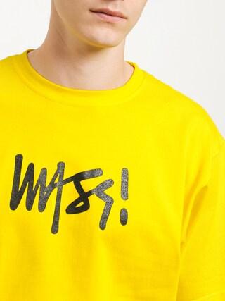 Tričko MassDnm Signature Medium Logo (yellow)