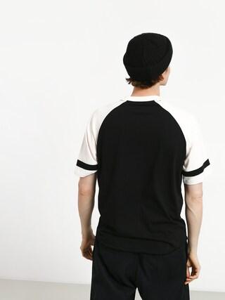 Tričko Brixton Rockford Baseball (black/off white)