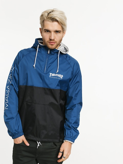 Bunda Thrasher Mag Logo Anorak (navy/grey)