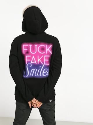 Mikina s kapucňou Diamante Wear Fuck Fake Smiles HD (black)