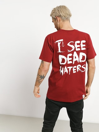Tričko Diamante Wear I See Dead Haters (burgundy)
