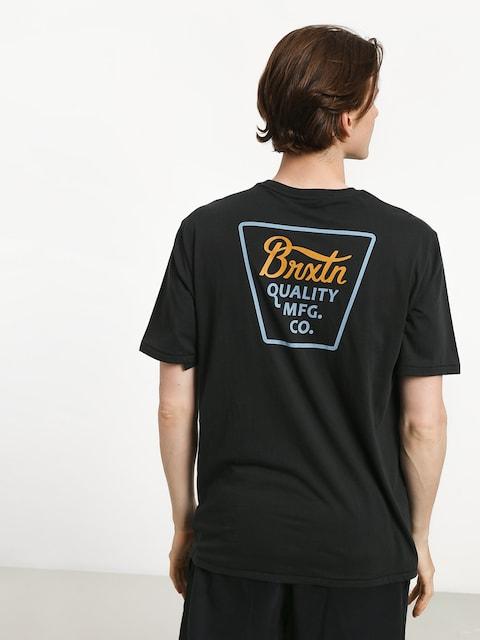 Tričko Brixton Potrero Prem (washed black/light blue)
