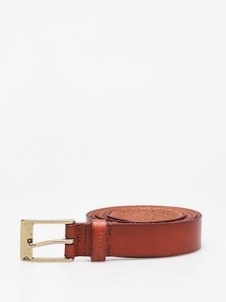 Opasok Quiksilver Slim Premium Leather (chocolate brown)