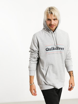 Mikina s kapucňou Quiksilver Get Buzzy Screen Fleece HD (athletic heather)